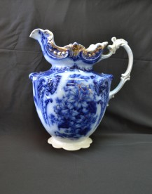 Flow Blue Pitcher Attic Consignments